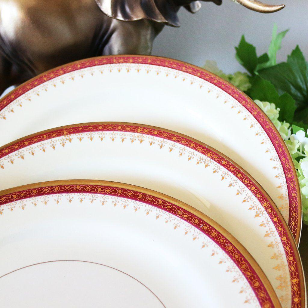 Christmas Dinner Plates Set Of 3 & Christmas Dinner Plates Set Of 3 | Christmas dinnerware sets Homer ...