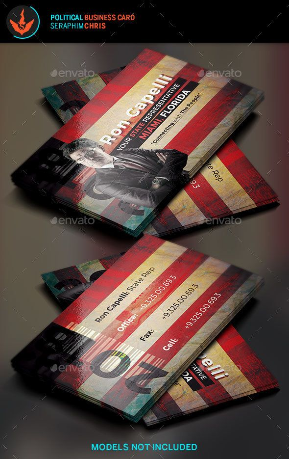 Political Business Card Template 4 | Card templates, Business cards ...