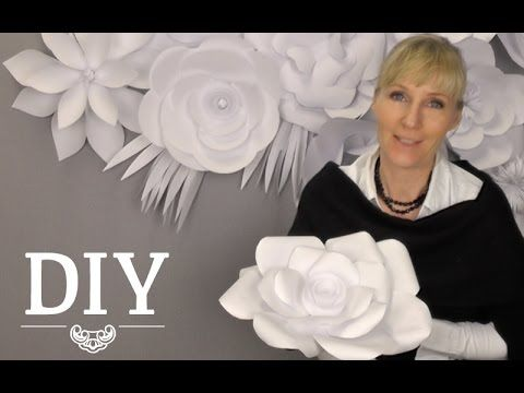 download video diy gro e papierbl ten wand aus. Black Bedroom Furniture Sets. Home Design Ideas