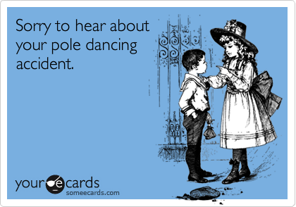 Pole dancing ecards