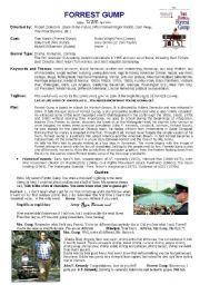 English Worksheet Forrest Gump Forrest Gump Forrest History Lessons