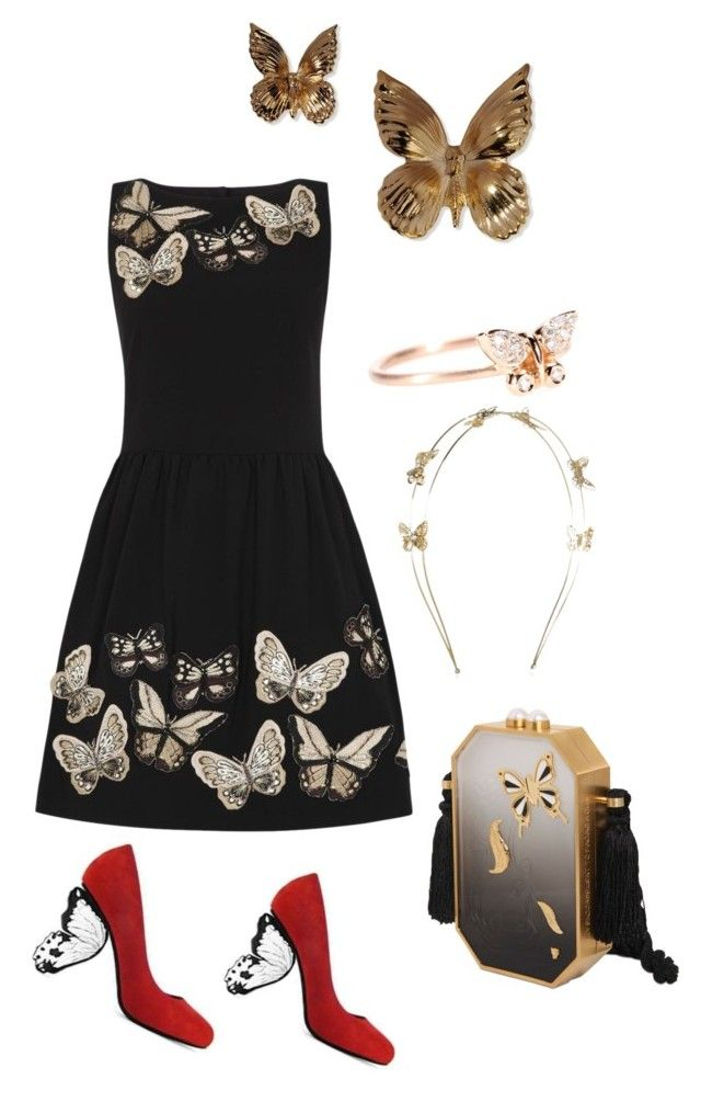 """Butterfly Fashion Forward"" by mrshellokitty0924 ❤ liked on Polyvore featuring Alice + Olivia, Rodarte, Roberto Marroni, Accessorize and Thalé Blanc"