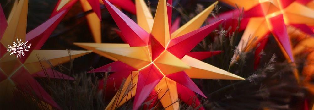 Herrnhut star chain, yellow/red #mybrilliantstar #herrnhutstar #moravianstar