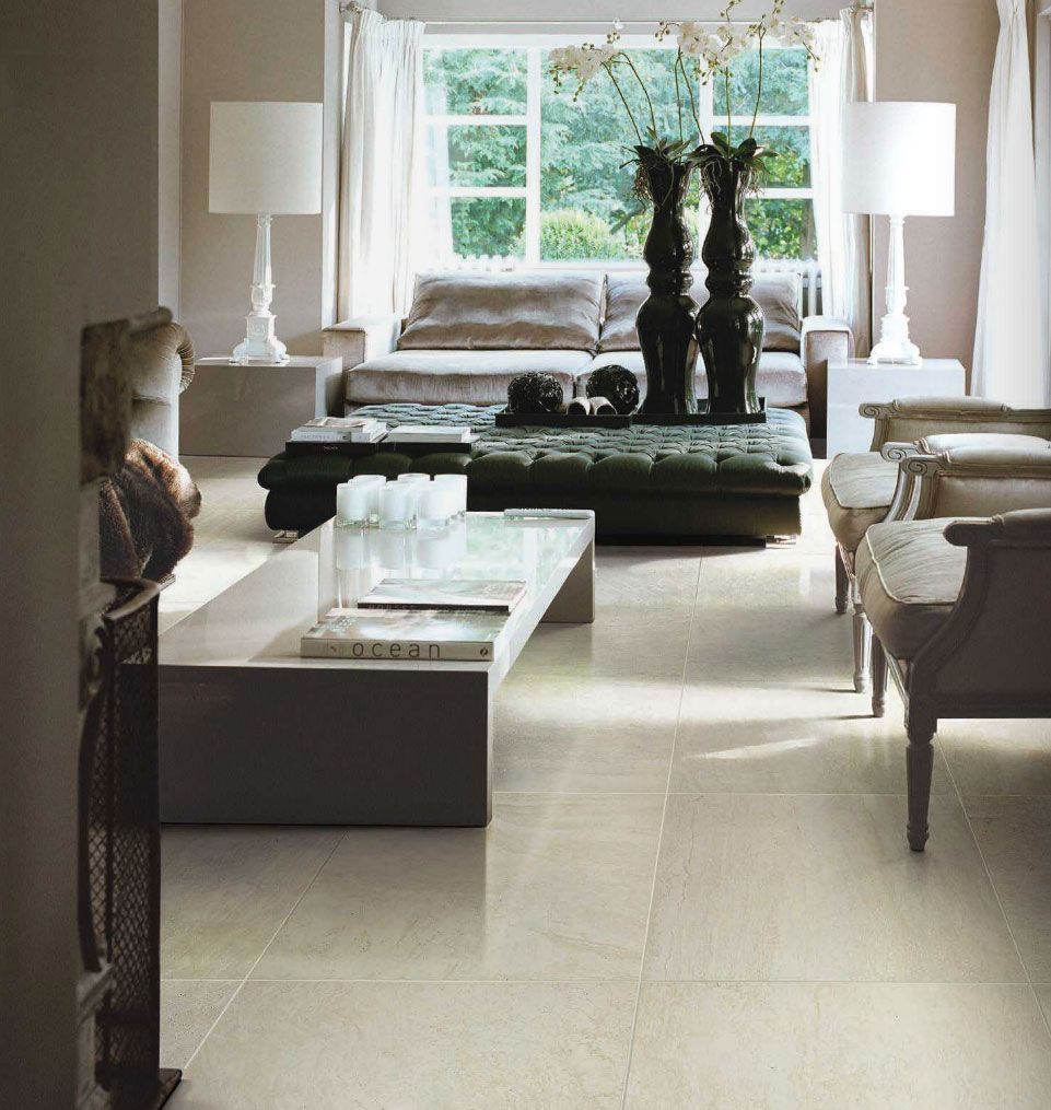 Vintage By Fine In Travertino Available In 14x14 Matte Floor Tile 10x22 Polished Wall Tile 2x2 Matte Mosaic An Living Spaces House Interior Home And Living