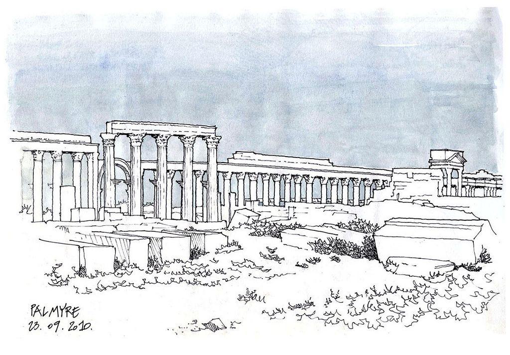 Syrie, 2010 Palmyre, la grande colonnade