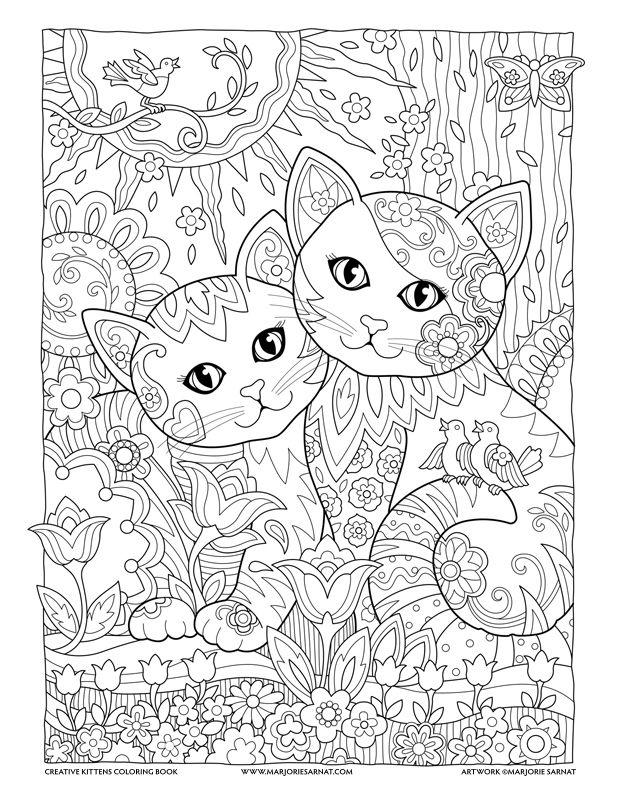 Best Friends Kitten Coloring Book Cat Coloring Book Cat Coloring Page