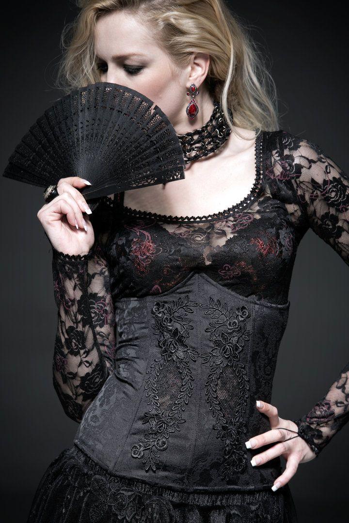 PUNK RAVE Diana Gothic Velvet Jacket Samtjacke Edel Schwarz