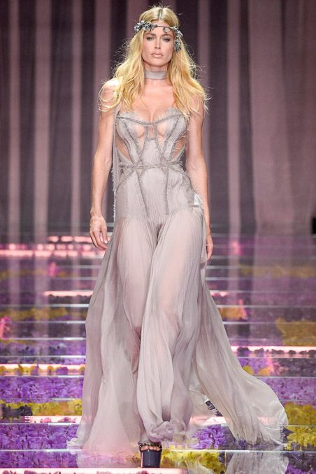 hauteccouture: Doutzen Kroes @ Atelier Versace Couture Fall/Winter 2015