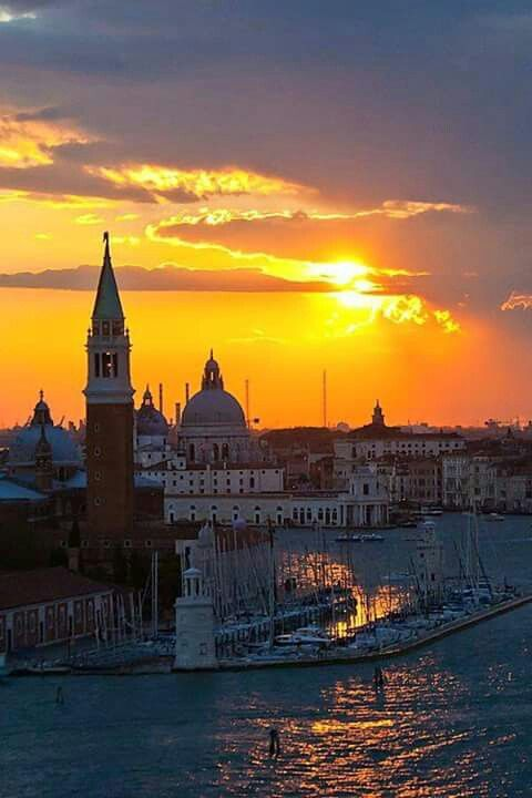 Sunset over Venice.