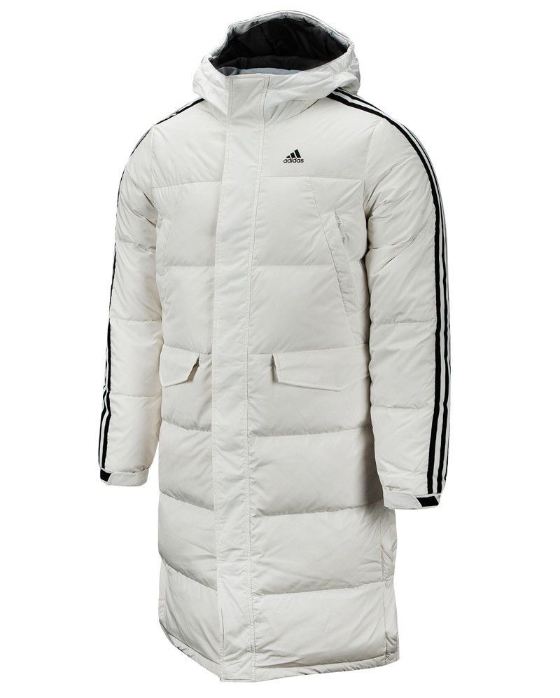 2d795f8847d8b Adidas 3S Long Parka (DT7921) Down Coat Hooded Winter Jacket ...
