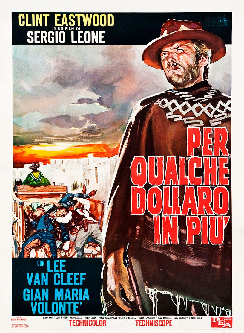 For a Few Dollars More 1965 Italian Vintage Movie Poster