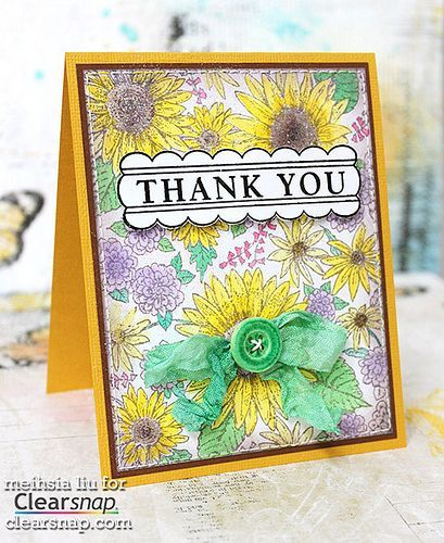 Thank someone with this fun, colorful card! It features  ColorBox® Archival Dye Ink colors Suede and Irish. Click on the image for the full tutorial. | Clearsnap Blog