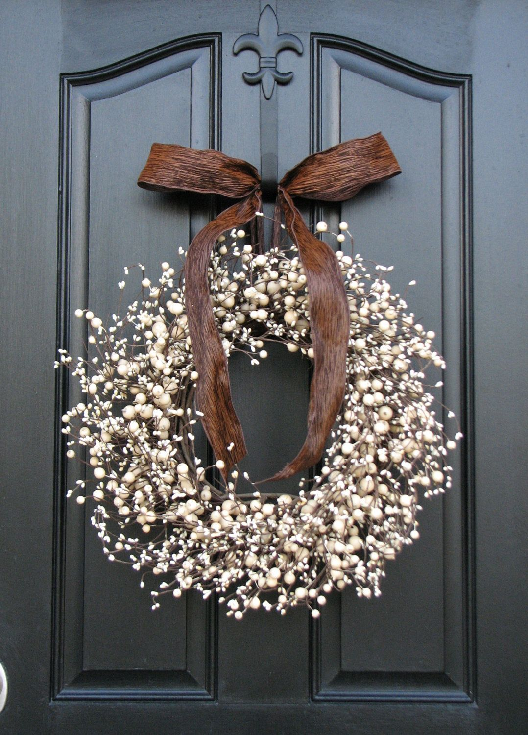 Berry Wreaths Front Door Wreath Chocolate And Cream