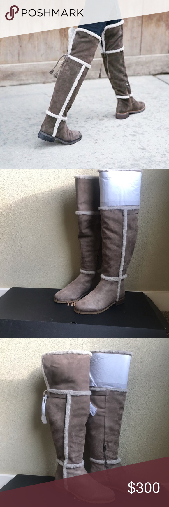3fcd5f03dc0 NIB Frye Tamara shearling fur lined over the knee New with all original  wrapping and box