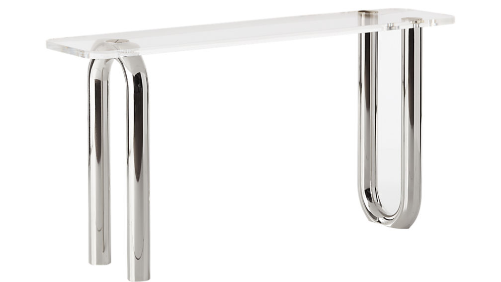 Link Acrylic Console Table Cb2 In 2020 Console Table Console Serving Table