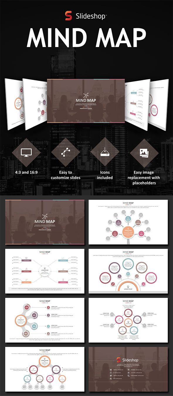Mind map powerpoint template powerpoint templates pinterest mind map powerpoint template toneelgroepblik Image collections