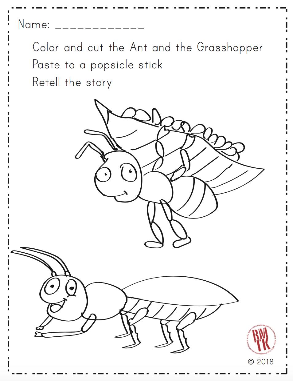 Ever Read The Ant And The Grasshopper It S A Great Story About Working Hard Freebie Kindergarten Preschool Teacherspayt Kindergarten Skills Puppets Ants [ 1238 x 954 Pixel ]
