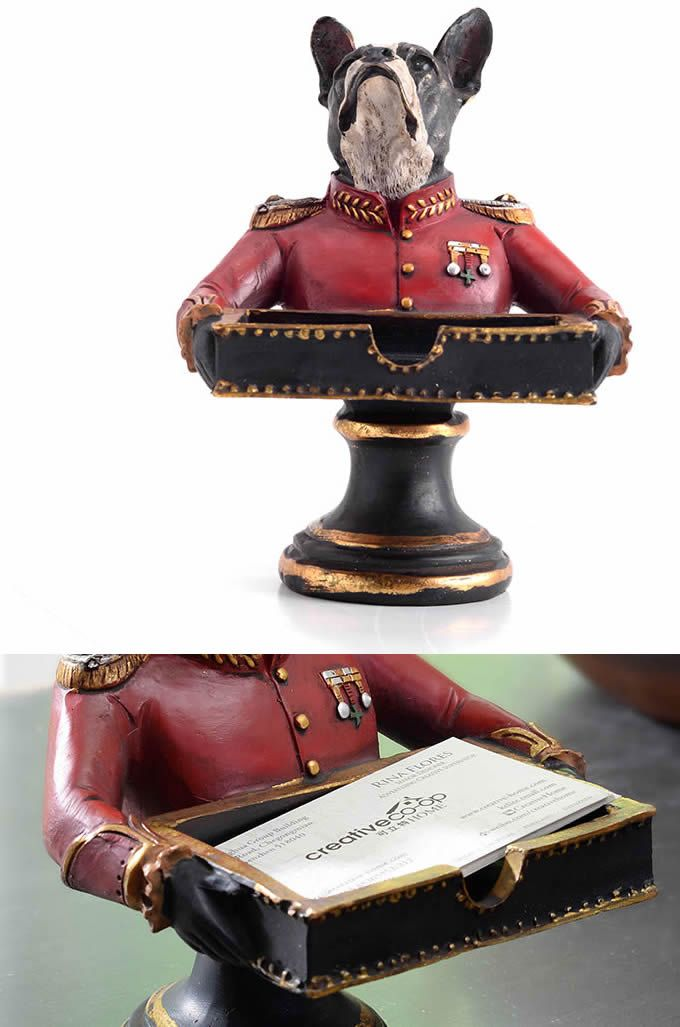 Http Www Feelgift Com Dog Style Business Card Holder Display Stand Business Card Holders Business Card Holder Display Make Business Cards