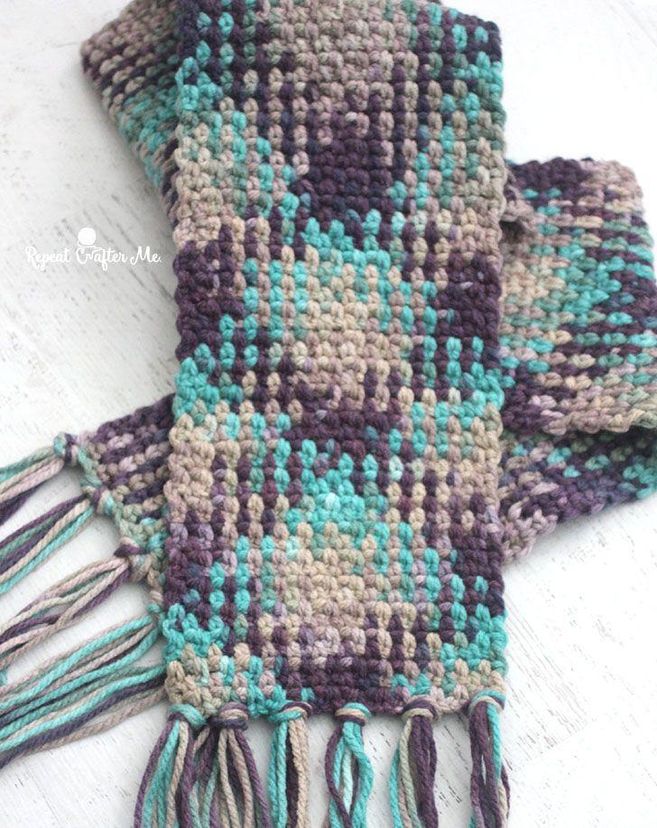 Crochet Planned Color Pooling Scarf Yarniferous Patterns Fibers