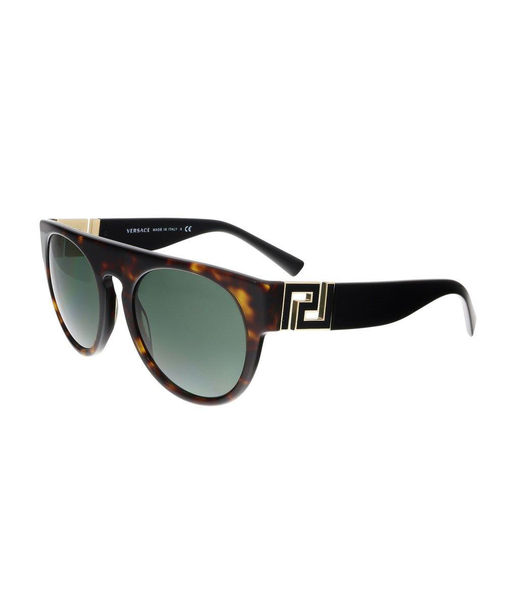 43e108784d769 VERSACE Ve4333 108 71 Round Havana Sunglasses .  versace  sunglasses ...
