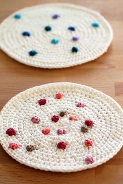 Sprinkle Crochet Potholders #potholders