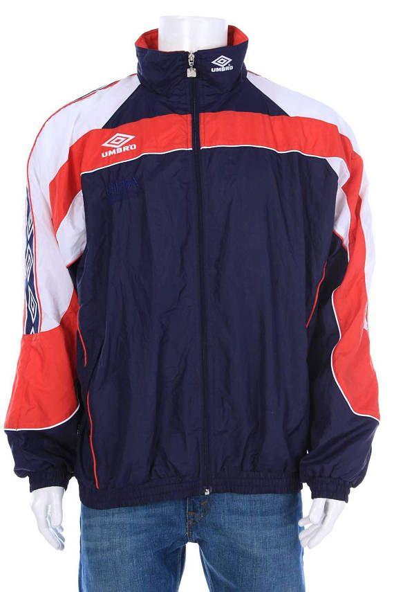 new arrivals 16d79 0cd7b Vintage 90s Umbro Windbreaker jacket Big logo Spell Out