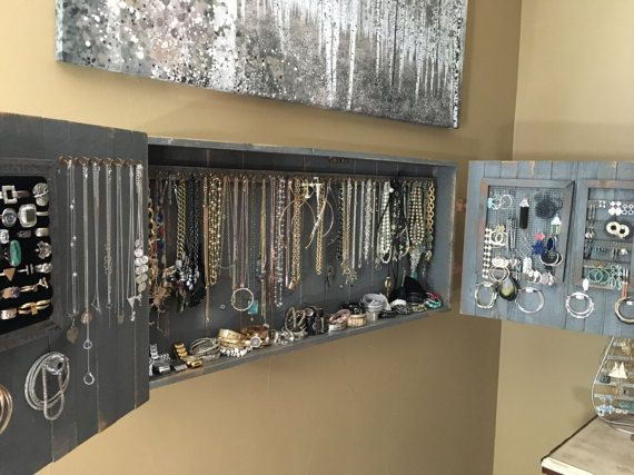 Hanging Jewelry Armoire Organizer Organization Wall jewelry