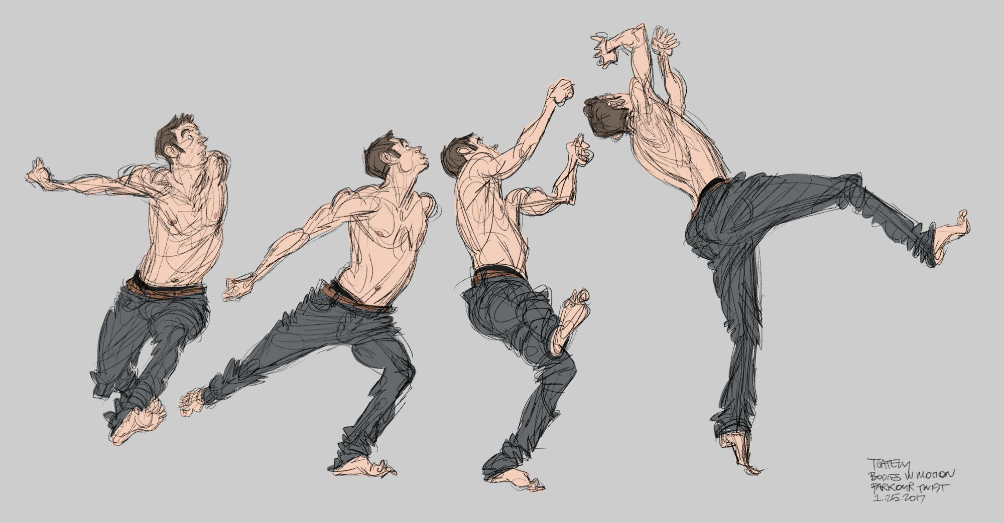 Parkour Twist Scott Eaton 39 S Bodies In Motion Animated Drawings Art Reference Poses Art Poses