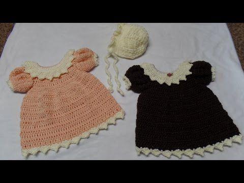 Baby Chloe Crochet Pattern #beddollsandcrocheted1112sizedolldresses