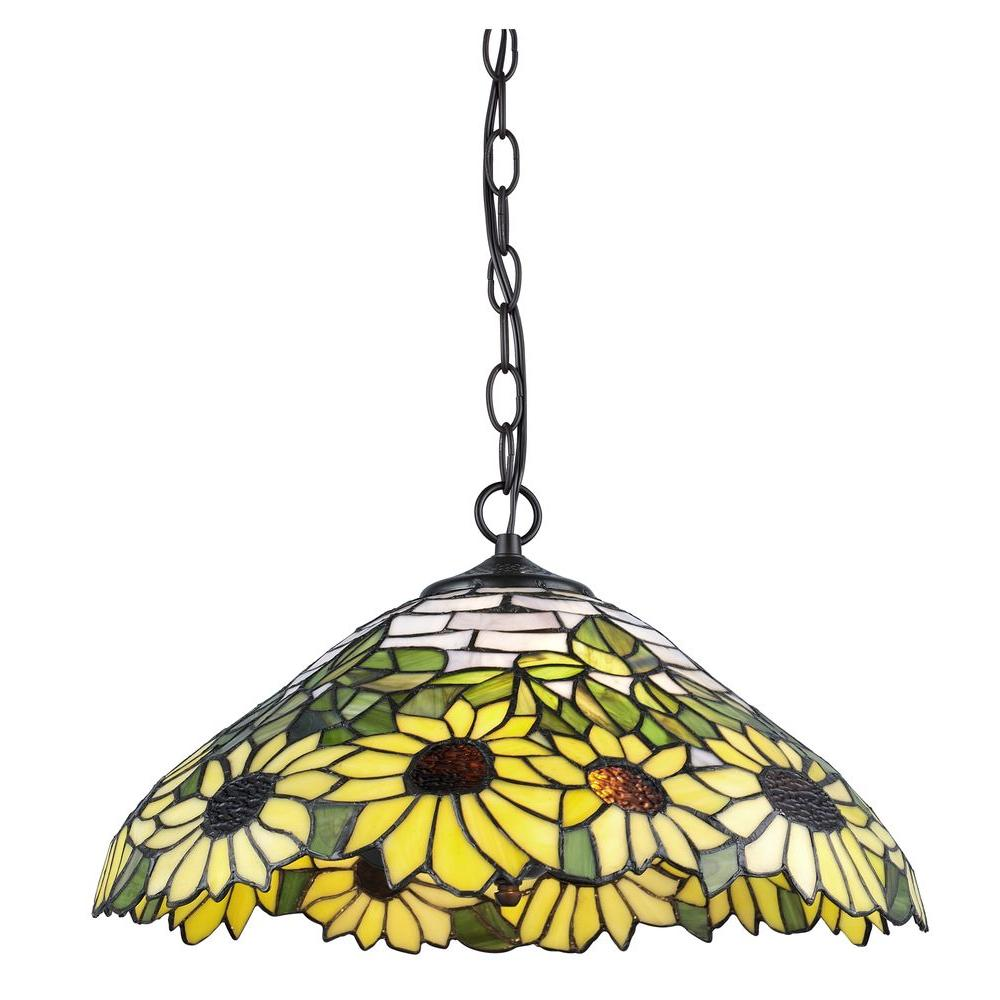 Serena D Italia Tiffany 2 Light Sunflower Bronze Hanging Lamp Tf7026han Stained Glass Lamps Tiffany Lamp Shade Tiffany Lamps