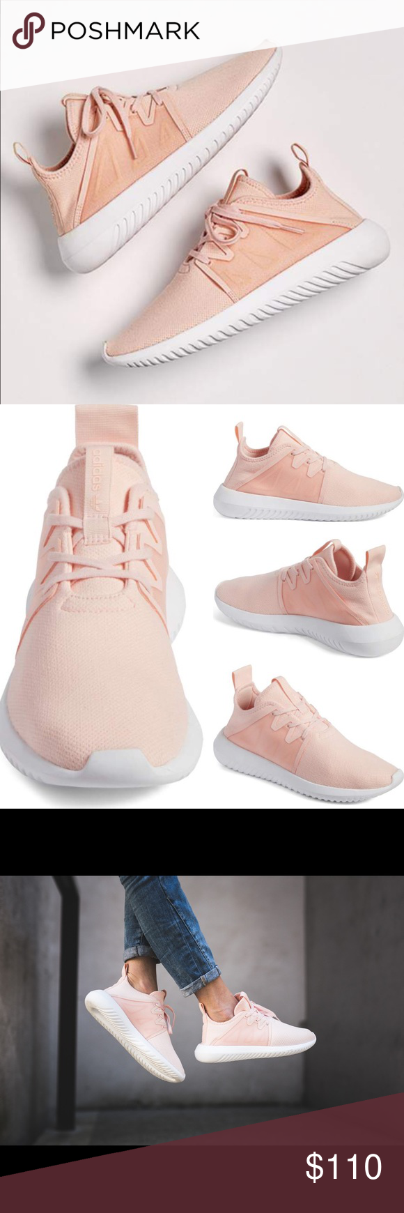 bd1d95f2032e Pink Adidas Tubular viral 2.0 Color  Icy Pink. Brand new with box. Size  8.5. Runs a bit loose (I m size 8.5 but feels 9 with thin socks- should be  okay with ...