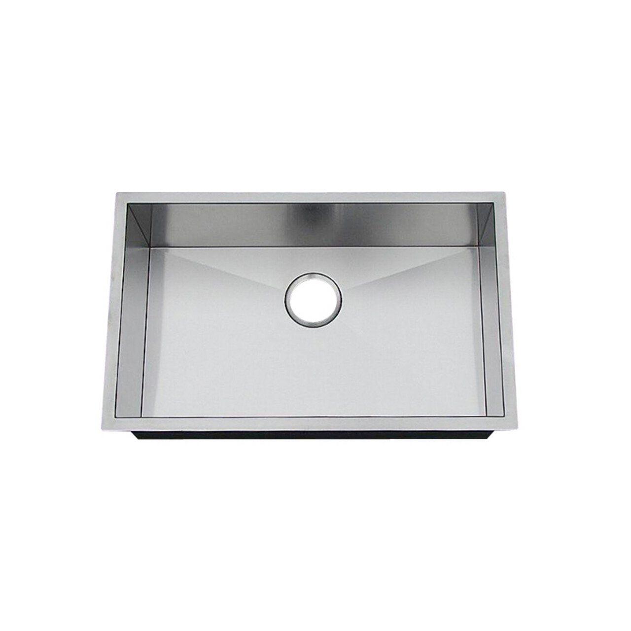 Frigidaire Fpur2919 D10 27 Inch By 17 Inch By 10 Inch Undermount 16 Stainless Steel Kitchen Sink Undermount Stainless Steel Sinks Stainless Steel Kitchen Sink