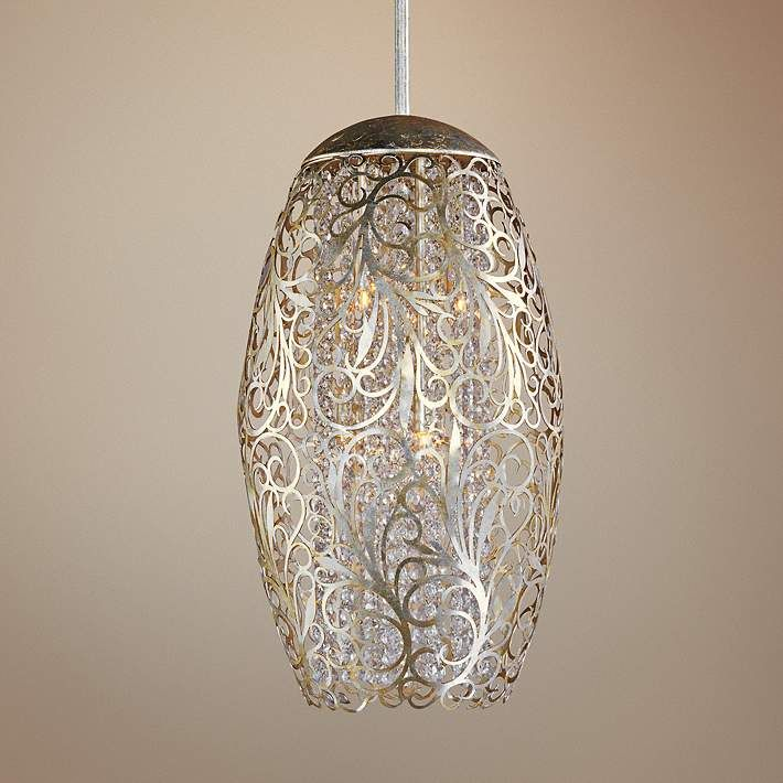 "Lamps Plus Pendant Lights Impressive Maxim Arabesque 13"" Wide Golden Silver Pendant Light  Pendant Inspiration Design"