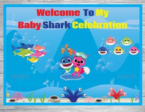 Instant Download Baby Door Sign Baby Shark Party Baby Shark