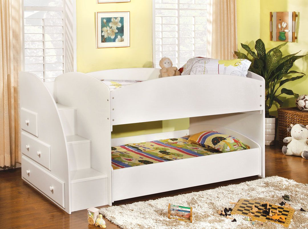 AMB Furniture Design Childrens Bunk Beds Merritt White