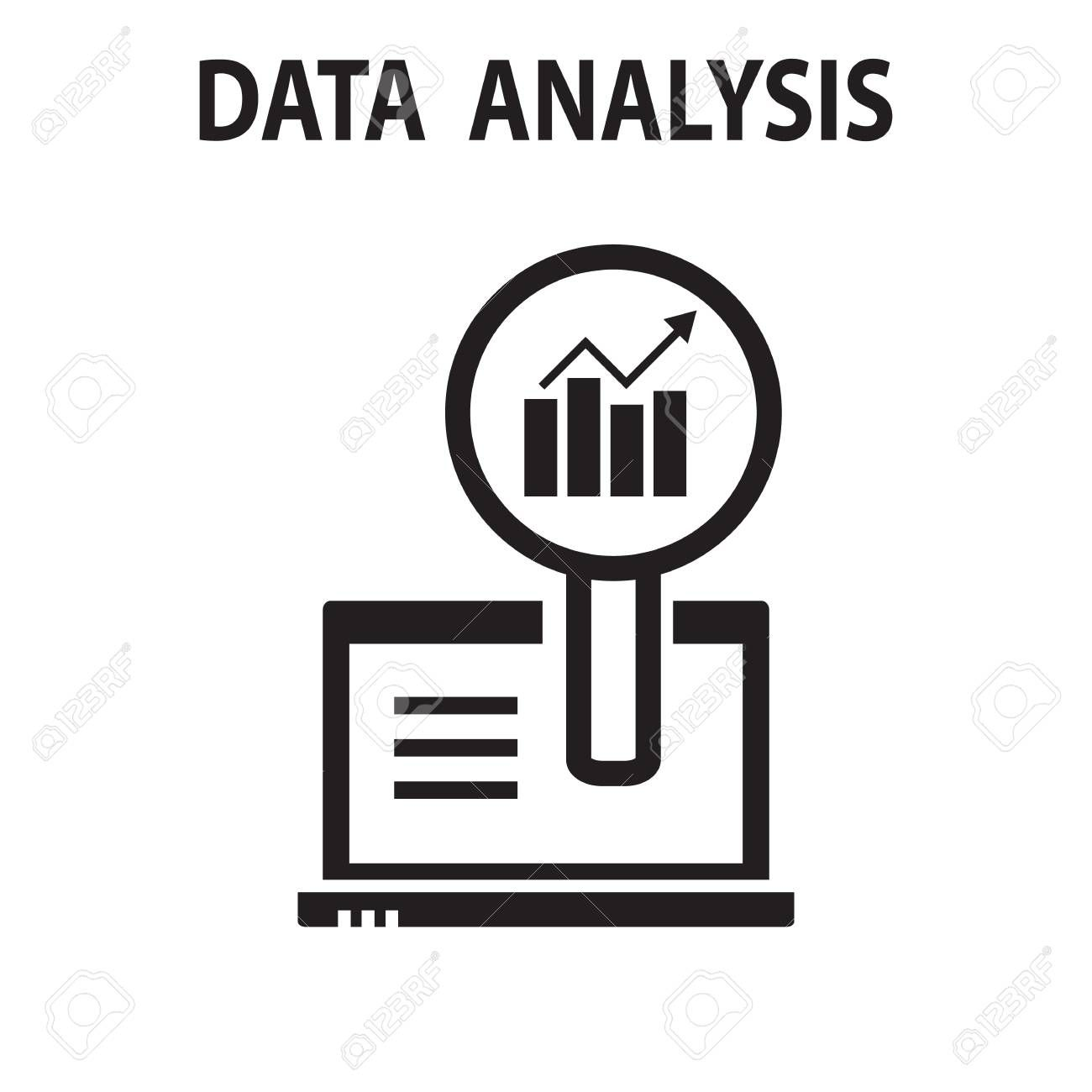 Analysis Chart Data Growth Increase Line Seo Icon Vector