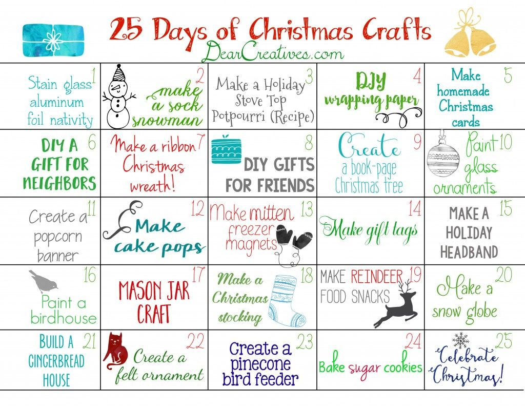 Marvelous Free Christmas Crafts Ideas Part - 5: Christmas Craft Ideas Christmas Crafts Countdown To Christmas Calendar Free  Printables