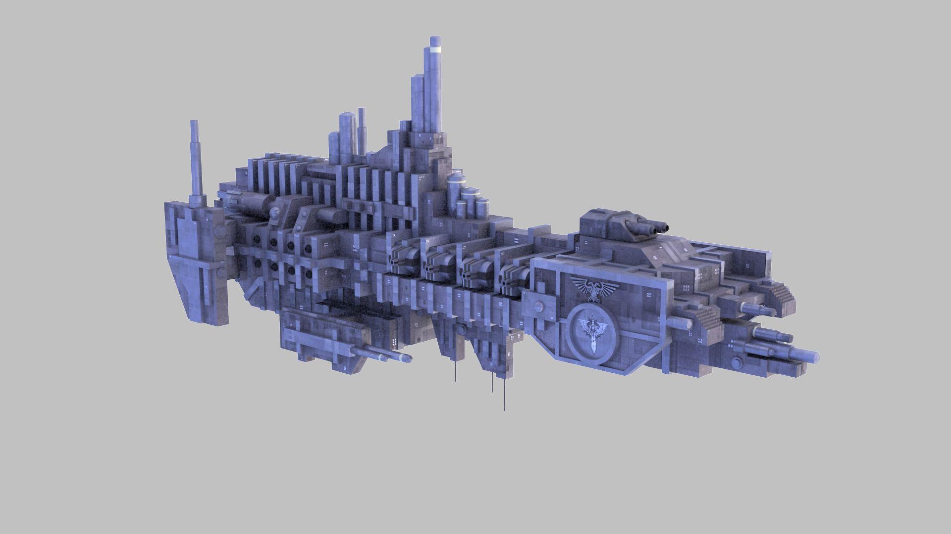 Space Marine Strike Cruiser Battlefleet Gothic With Images