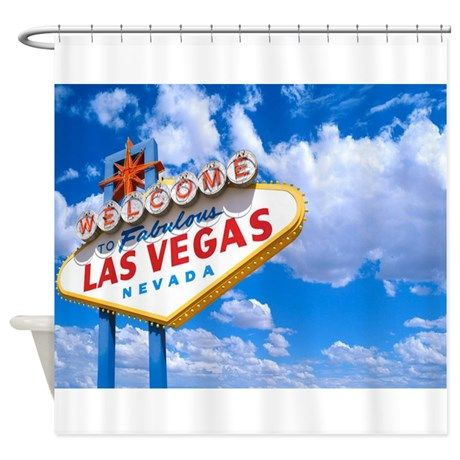Vegas Shower Curtain By Thevegassky Designer Shower Curtains