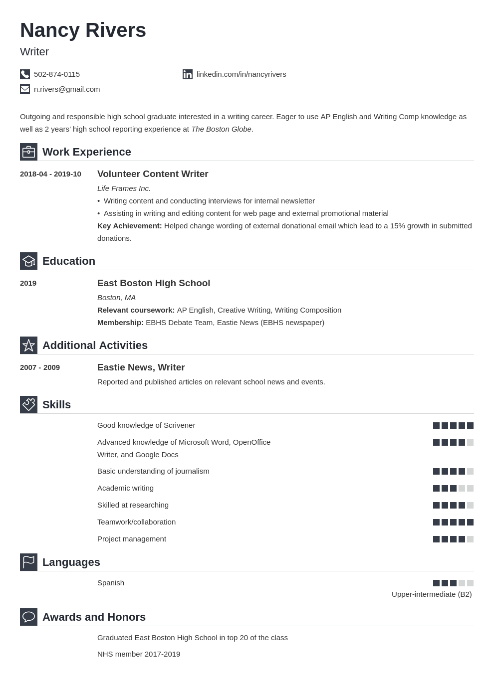 High School Graduate Resume Example Template Iconic Basic Resume Resume Examples Job Resume Examples