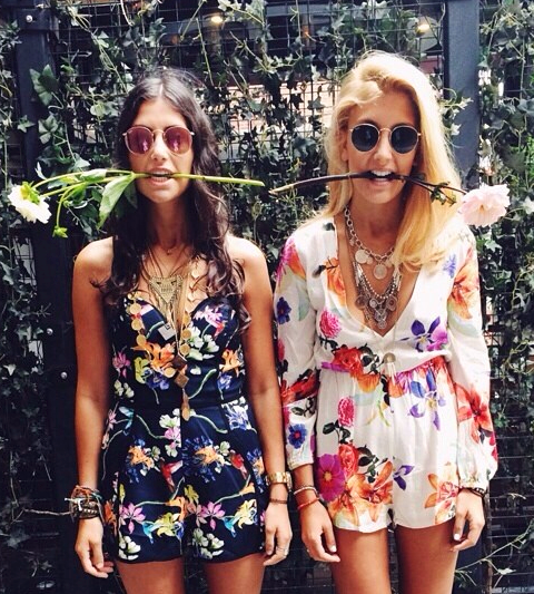 Double trouble #floral #playsuit #summertime