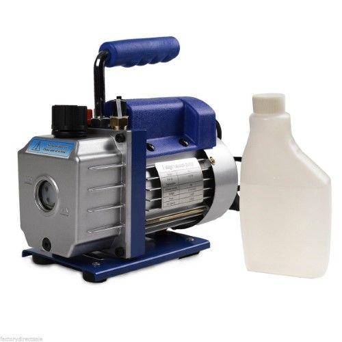3CFM Single Stage 1/4HP Rotary Vane Deep Vacuum Pump Hvac AC Air