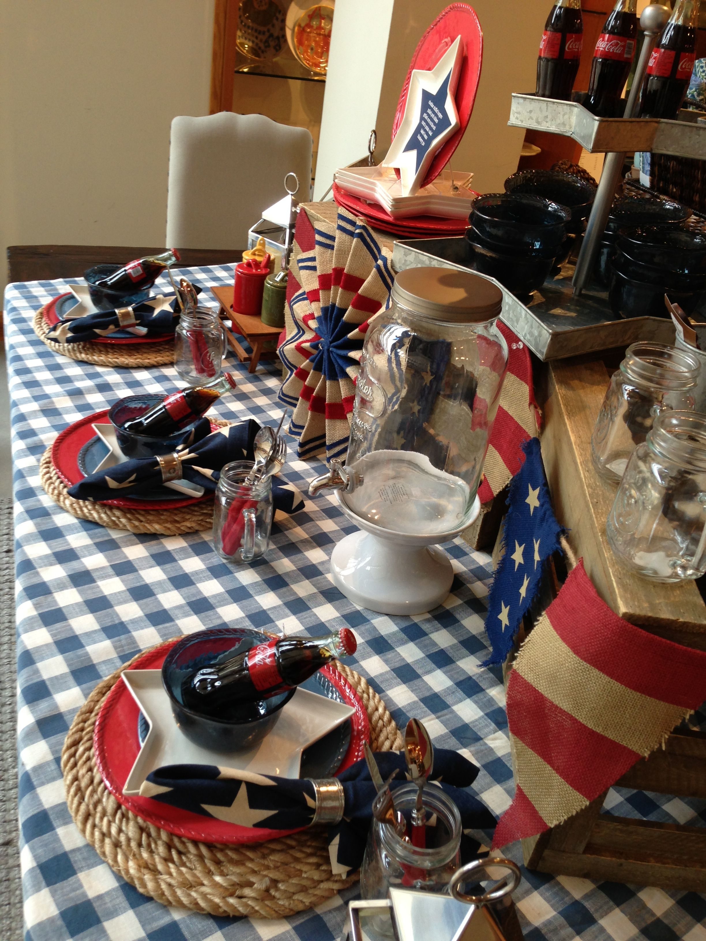 4th Of July Table At Pottery Barn July Party 4th Of