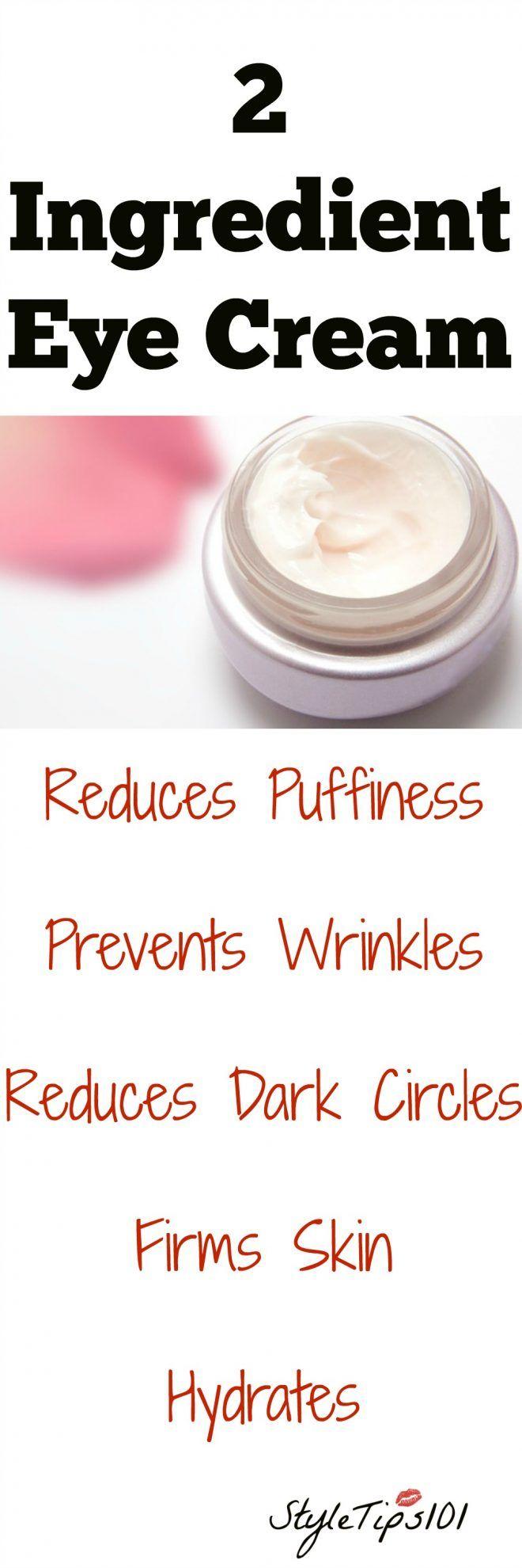 Two Ingredient Eye Cream  Eye Eye cream and Face