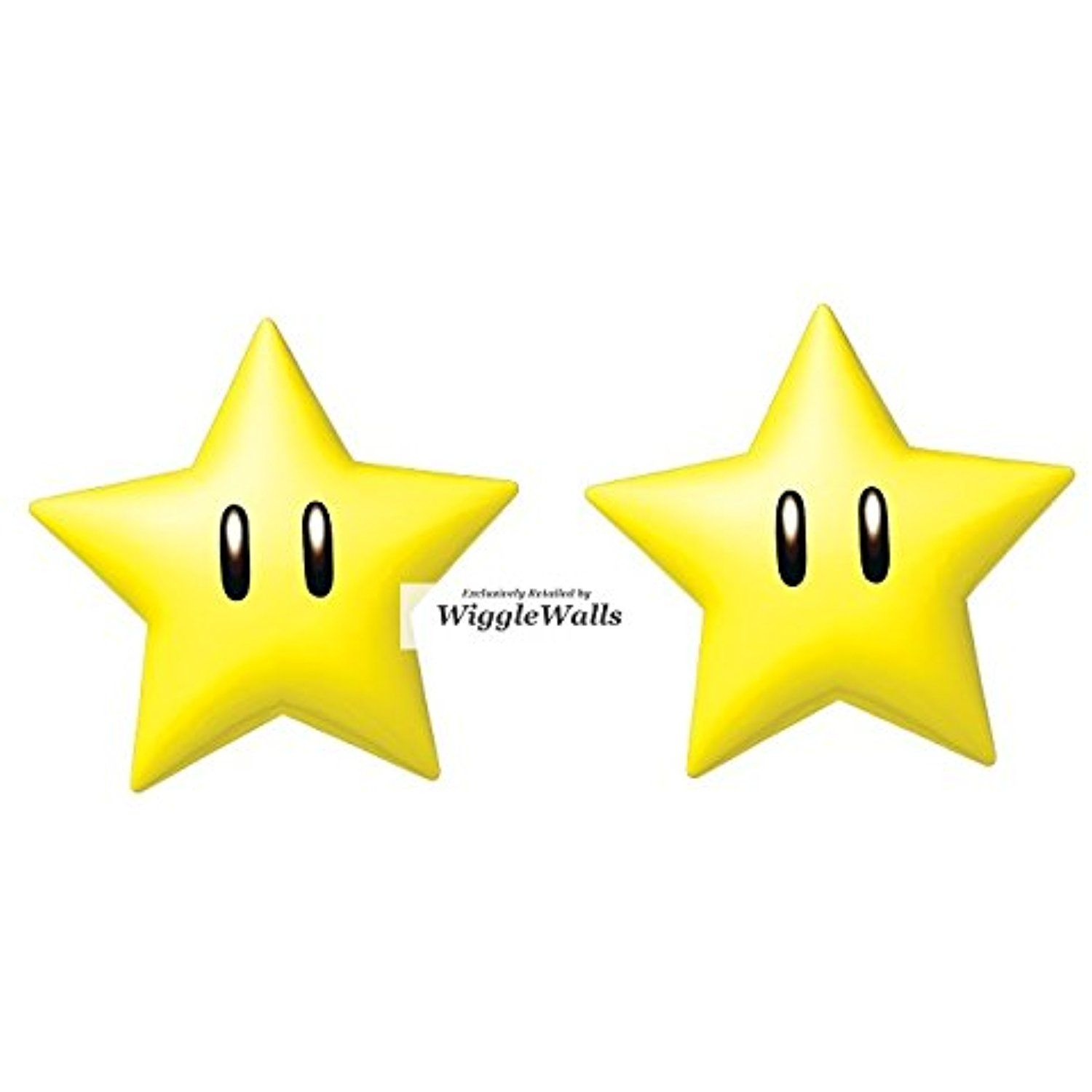 2 Inch Power Up Stars Super Mario Removable Wall Decal Sticker Art ...