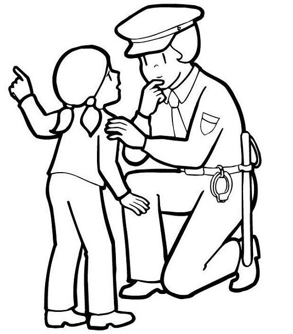 police woman coloring pages | woman | Pinterest | Police, Coloring ...