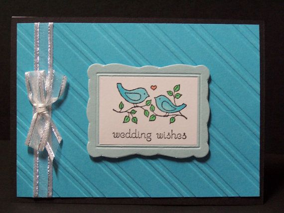 Stampin up handmade greeting card wedding newlywed card love