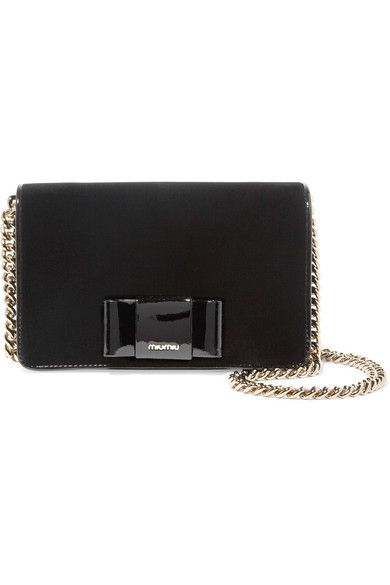397f37ebca91 Black velvet and patent-leather Snap-fastening front flap Comes with dust  bag Weighs approximately 2.2lbs  1kg Made in Italy