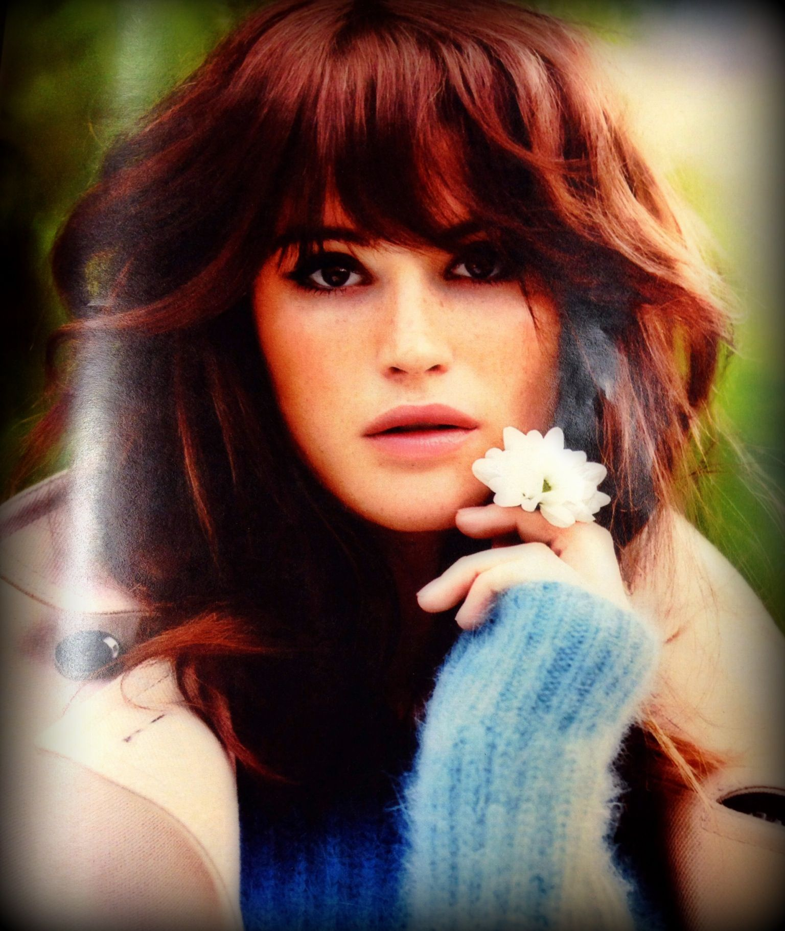 Gemma A. for InStyle | Hair color auburn, Dark auburn hair ...