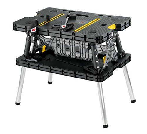 Keter Folding Table Work Bench For Woodworking Tools Accessories With Clamps Keter Folding Work Table Folding Workbench Work Table